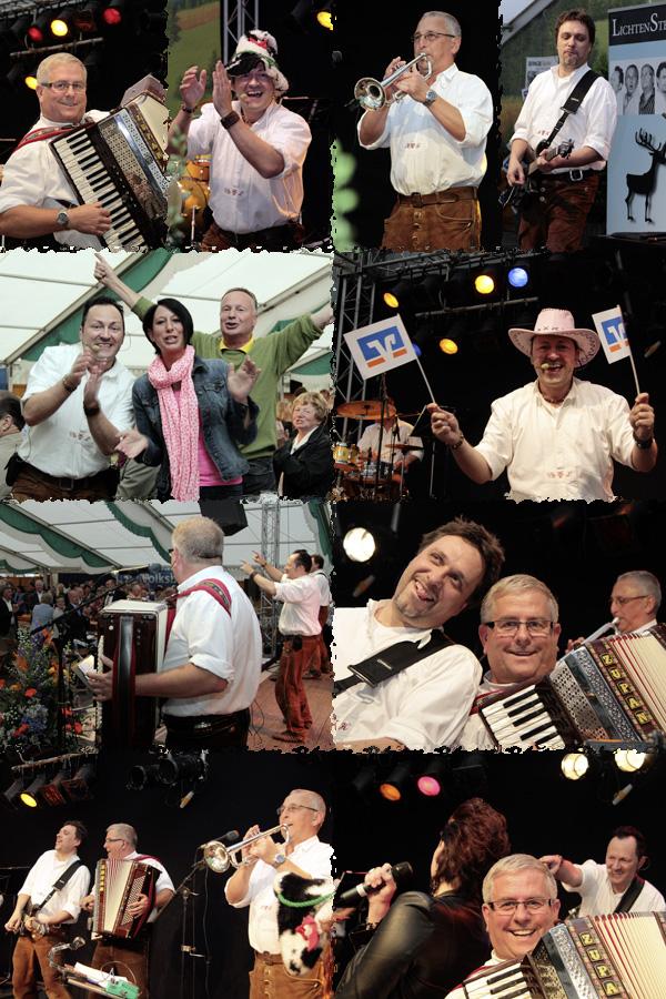 Oktoberfestband Lichtensteiner beim Oktoberfest Volksbank Emmerich 2013