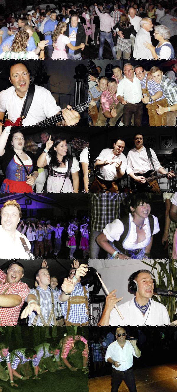 Oktoberfestband Lichtensteiner beim Oktoberfest in Bruchhausen 2013