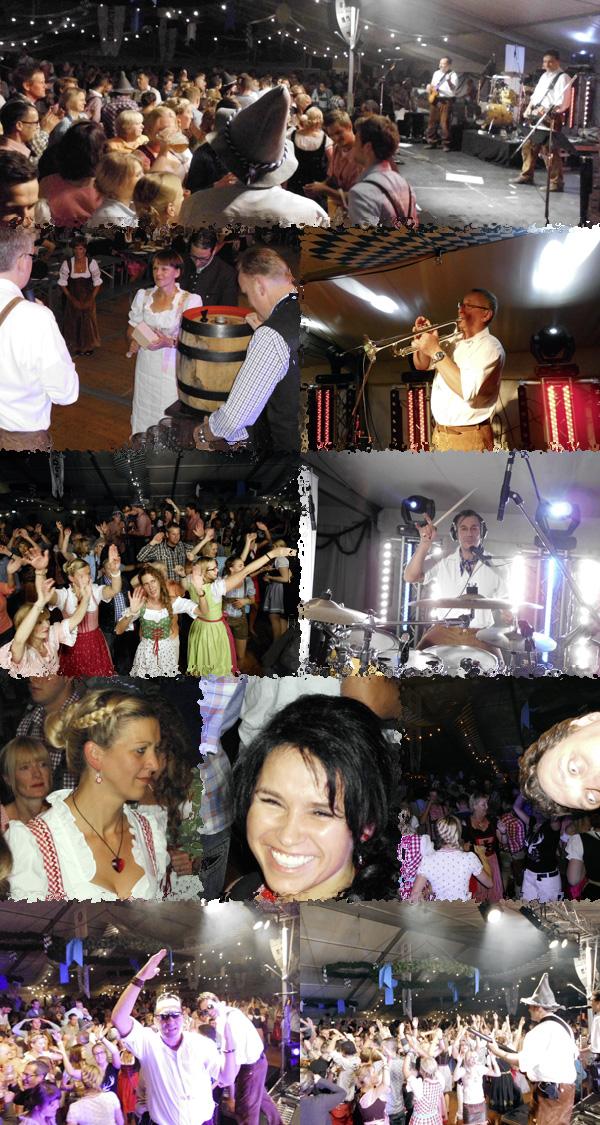 Oktoberfestband Lichtensteiner beim Oktoberfest in Guetersloh 2013 Freitag