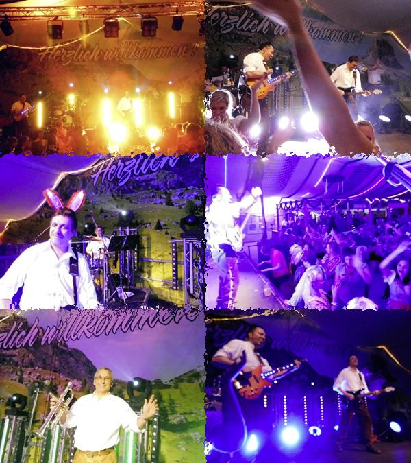 Oktoberfestband Lichtensteiner beim Oktoberfest in Riol 2013 Tag 1