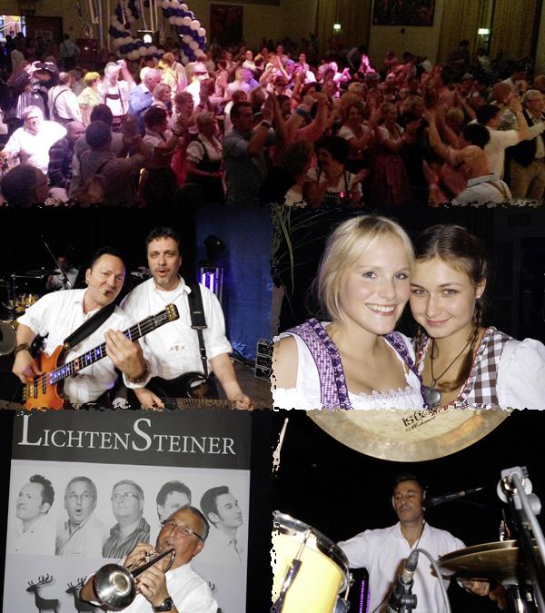 Oktoberfestband Lichtensteiner beim Oktoberfest in Wegberg 2013